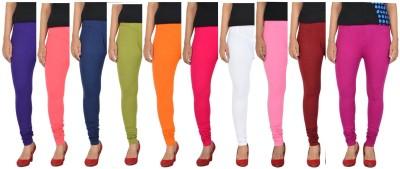 Penperry Women's Multicolor Leggings(Pack of 10) at flipkart