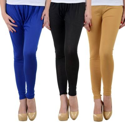 Mynte Women's Blue, Black, Beige Leggings