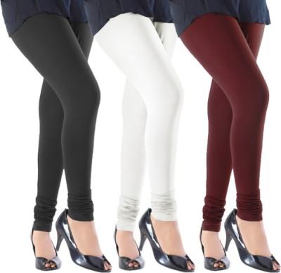 Slassy Women's Black, White, Maroon Leggings