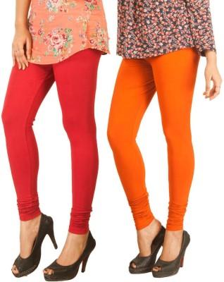 RIF Women's Red, Orange Leggings