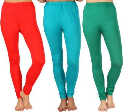 SLS Women's Red, Light Green, Green Leggings