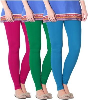 Nice Fit Women's Blue, Maroon, Green Leggings