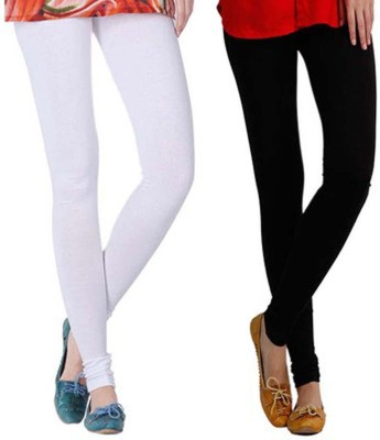 Aarti Collections Women's Black, White Leggings