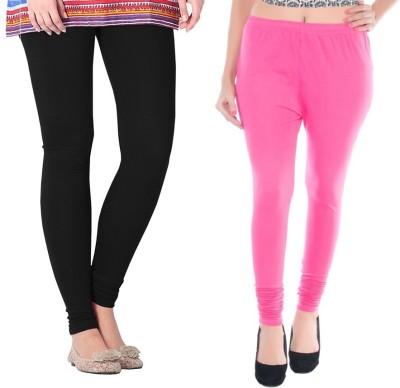 Colors More Women's Pink, Black Leggings