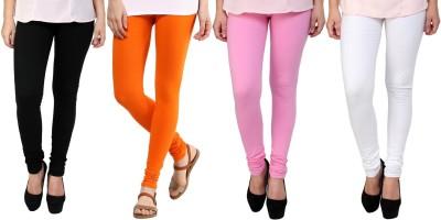 Legemat Girl,s Black, Orange, Pink, White Leggings