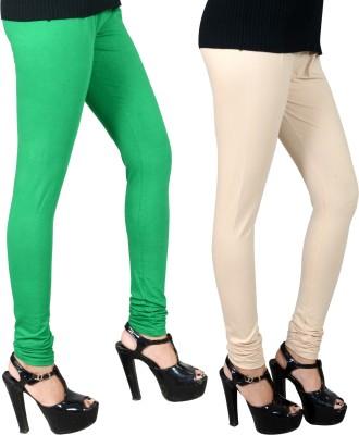 JSA Women's Green, Beige Leggings