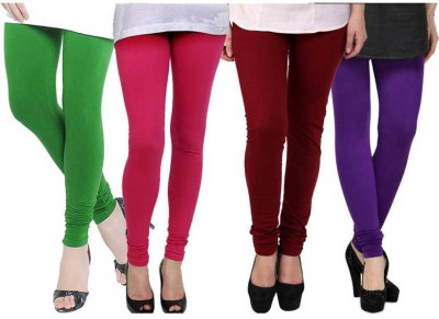Fashion Zilla Women's Green, Pink, Maroon, Purple Leggings