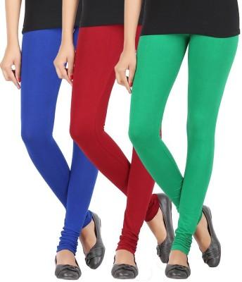 Elance Women's Blue, Maroon, Green Leggings