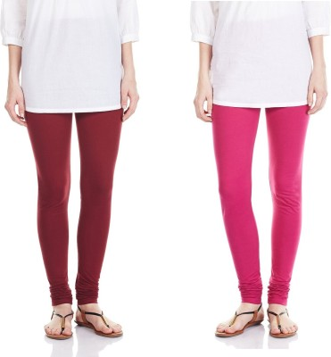 SRS Women's Maroon, Pink Leggings