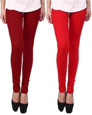 Escocer Women's Maroon, Red Leggings