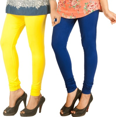 Berries Women's Yellow, Dark Blue Leggings