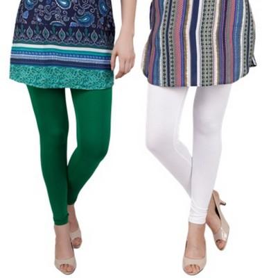 Bembee Women's Green, White Leggings