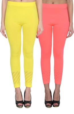 NumBrave Women's Yellow, Pink Leggings