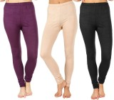 SLS Women's Purple, Beige, Black Legging...
