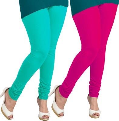 I-Diva Women's Light Blue, Pink Leggings