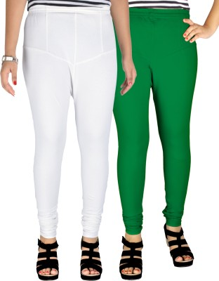Dolphin Women's White, Green Leggings