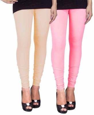 Ayesha Fashion Women's Beige, Pink Leggings
