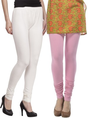Venustas Women's Pink, White Leggings