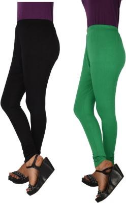 HiNa Women's Black, Green Leggings