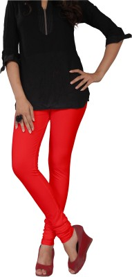 Leg Glance Women's Red Leggings