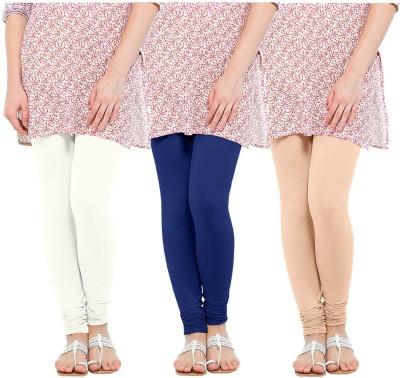 Oh Fish Women's Blue, White, Beige Leggings