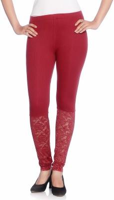 Vanita Women's Maroon Leggings