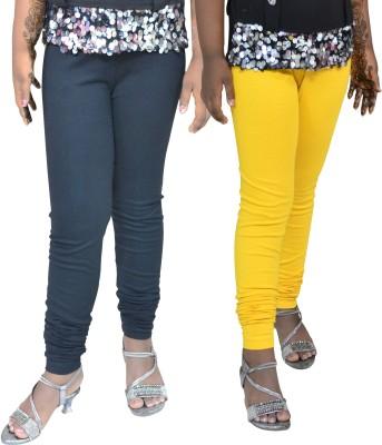 1 For Me Girl,s Yellow, Black Leggings