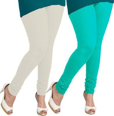I-Diva Women's White, Light Blue Leggings