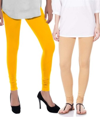 Sampoorna Collection Women's Yellow, Beige Leggings