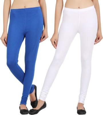 Sewn Women's Dark Blue, White Leggings