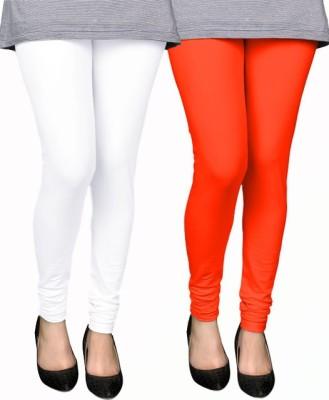 PAMO Women,s White, Orange Leggings