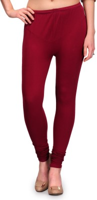 Fashion Cult Women's Maroon Leggings