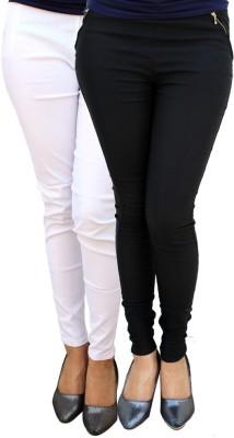 Kyron Women's Black, White Jeggings