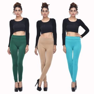 Both11 Women's Green, Beige, Green Leggings