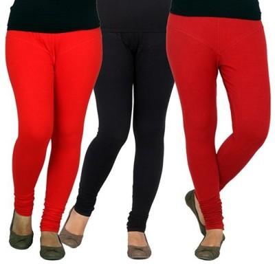 XCL Women's Red, Orange, Black Leggings
