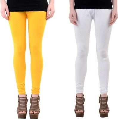 Mynte Women's Yellow, White Leggings