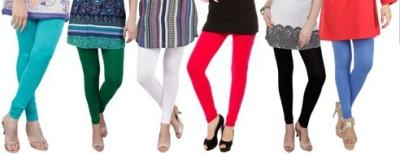 Prekrasna Women,s Light Blue, Green, White, Red, Black, Blue Leggings