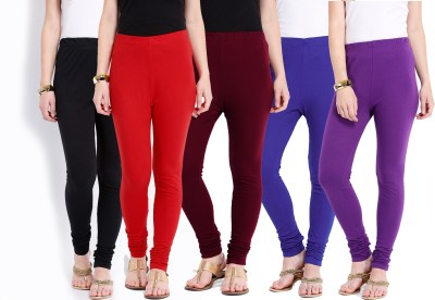 Ten on Ten Women's Purple, Maroon, Red, Black, Blue Leggings