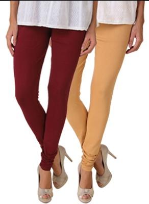 Fasense Women's Maroon, Brown Leggings