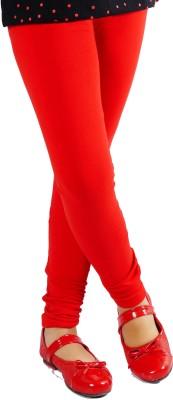 Naughty Ninos Girl's Red Leggings