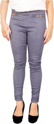 Parv Collections Women,s Grey Jeggings