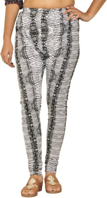 Younky Women's Black, White Leggings