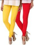 Fasense Women's Yellow, Red Leggings (Pa...