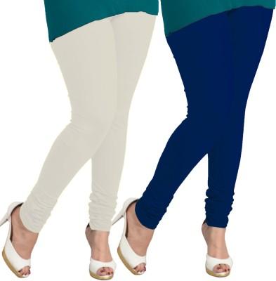 I-Diva Women's White, Dark Blue Leggings