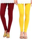 Famaya Women's Maroon, Yellow Leggings (...