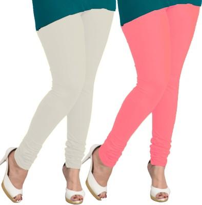 I-Diva Women's White, Pink Leggings