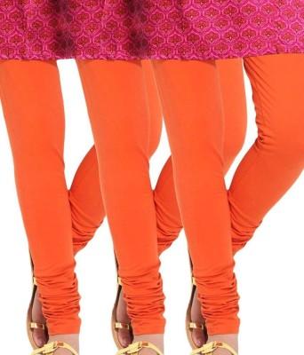 divine creations Women's Orange Leggings