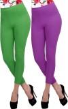 Carrol Women's Green, Purple Leggings (P...