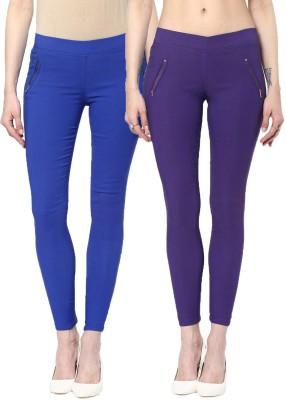 Zea-Al Women's Blue, Purple Jeggings