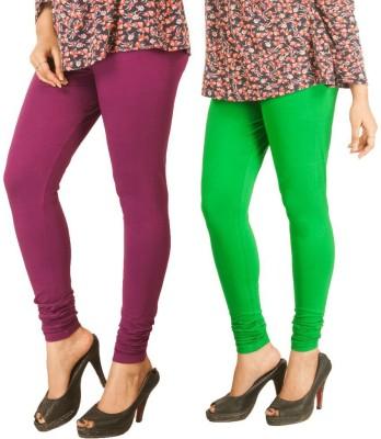 Xcl Women's Purple, Light Green Leggings